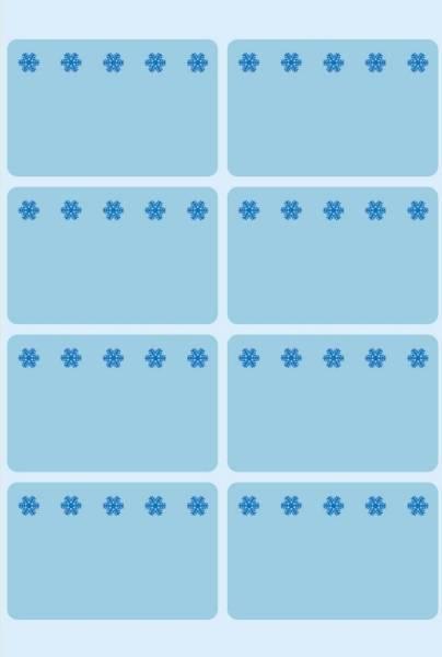 HERMA Tiefkühletiketten 26x40mm blau 48 Stück 3773 Eiskristalle