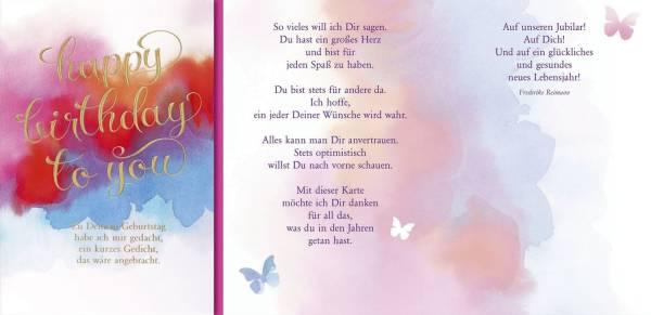 Geburtstagskarte englisch inkl Umschlag