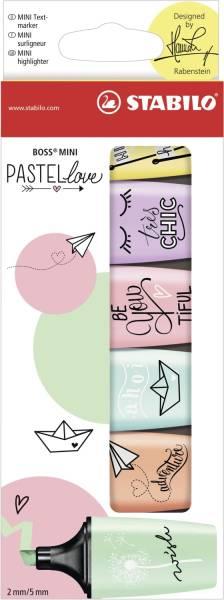 STABILO Textmarker Mini 6er sortiert 07/06-27 Pastellove