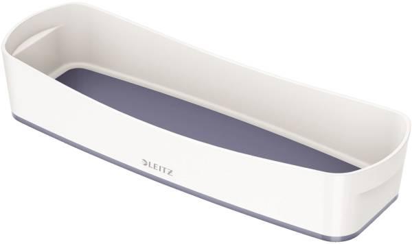 Aufbewahrungsschale MyBox länglich, ABS, weiß grau