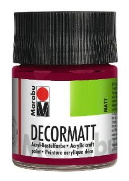 Decormatt Acryl, Bordeaux 034, 50 ml
