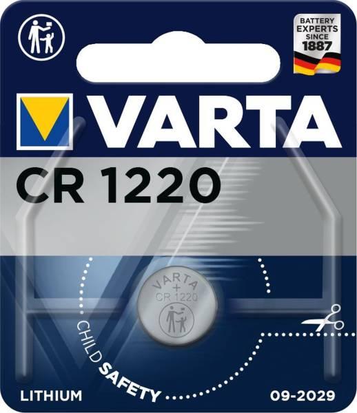 VARTA Knopfzellen-Batterie CR1220 1er 06220101401