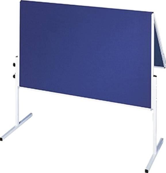 Moderationstafel X tra!Line, 120 x 150 cm, blau Filz, klappbar®