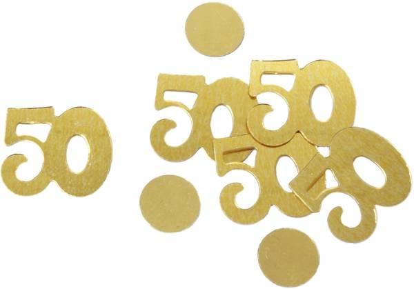Konfetti Zahl 50 gold 5005 10gr 50