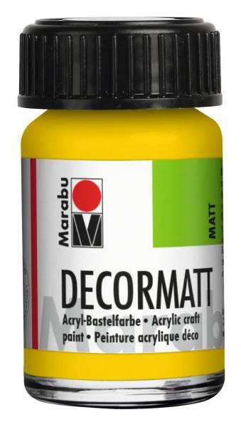 Decormatt Acryl, Gelb 019, 15 ml