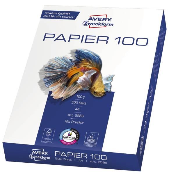 2566 Drucker und Kopierpapier, DIN A4, beidseitig beschichtet satiniert, 100 g qm, 500 Blatt