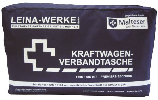 LEINA-WERKE Verbandtasche KFZ schwarz 11002