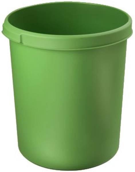Papierkorb 30 Liter, rund, 2 Griffmulden, extra stabil, grün