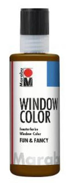 Window Color fun&fancy, Dunkelbraun 045, 80 ml