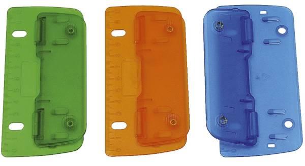 Taschenlocher für 8 cm Lochung, farbig sortiert Kunststoff