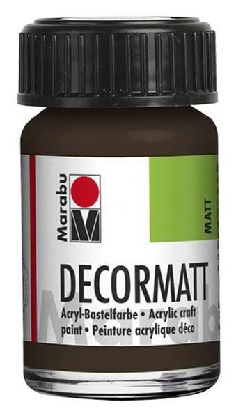 Decormatt Acryl, Dunkelbraun 045, 15 ml