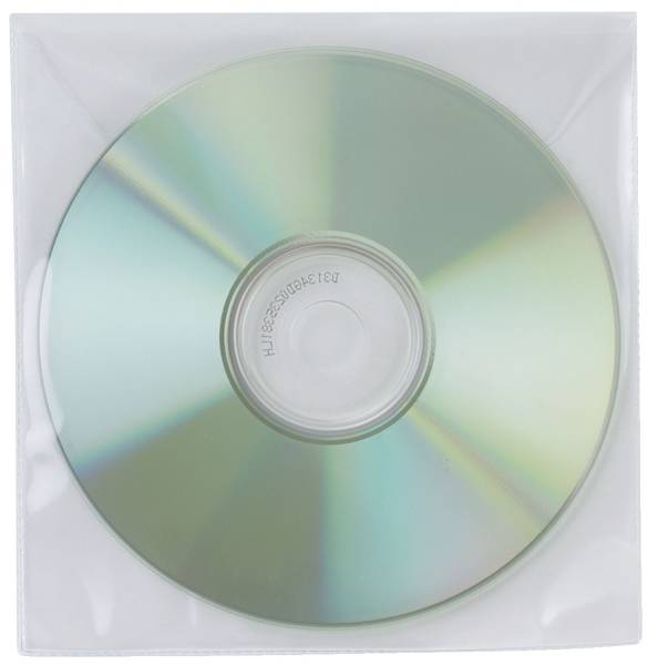CD DVD Hüllen Ungelocht, transparent, Packung mit 50 Stück