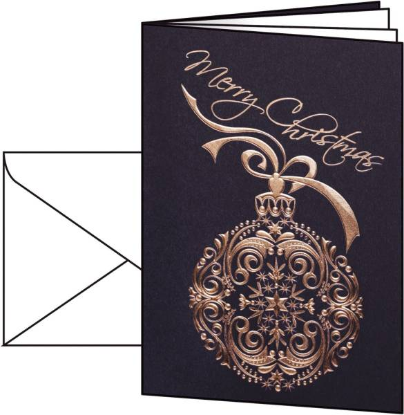 "Weihnachts Karten ""Noblesse"" A6 (A5), 10 Karten"