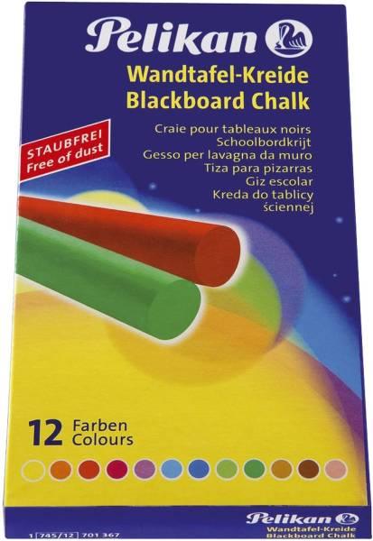 Wandtafelkreide 745 12, farbig sortiert