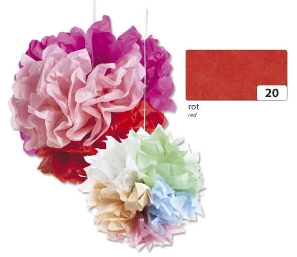 Blumenseide 50 x 70 cm, 5 Bogen, rot