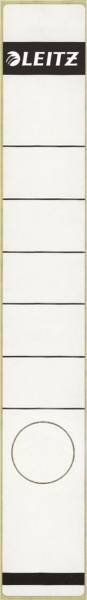 1648 Rückenschilder Papier, lang schmal, 10 Stück, weiß