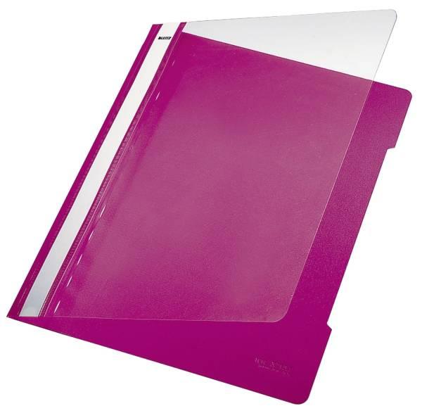 4191 Hefter Standard, A4, langes Beschriftungsfeld, PVC, pink