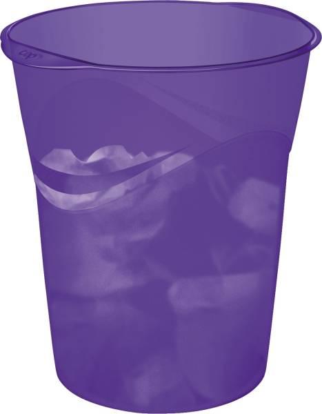 Papierkorb Happy violett, Ø min max: 290 305 334 mm hoch