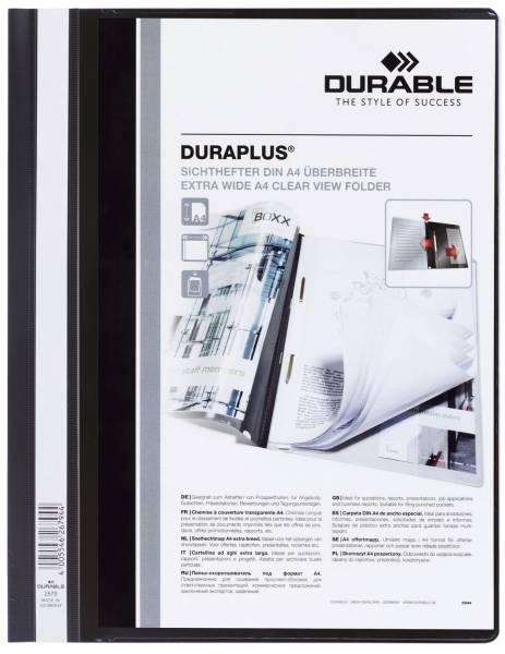 Angebotshefter DURAPLUS, strapazierfähige Folie, A4+, schwarz®