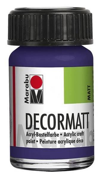 Decormatt Acryl, Violett dunkel 051, 15 ml