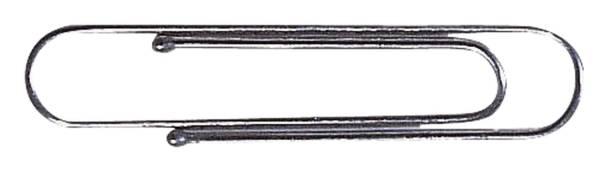 Aktenklammern mit Kugelenden 77 mm gewellt, verzinkt, 100 Stück