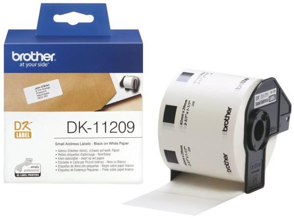 BROTHER Adressetikettenrolle 29x62mm weiß DK11209 800 Stück f. QL500/550