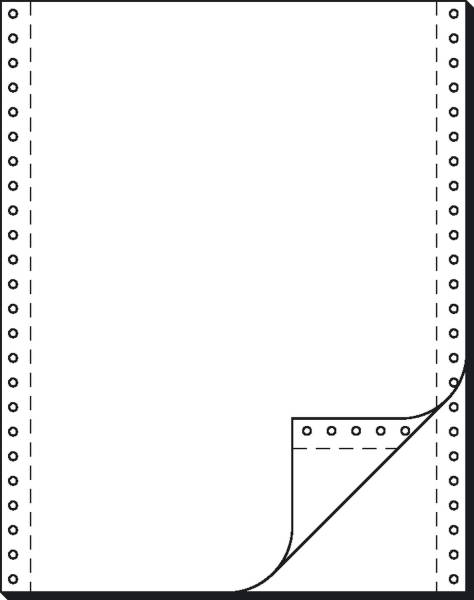 """SIGEL Endlospapier 12""""x240 mm blanko 32242 2-fach 1000BL"""