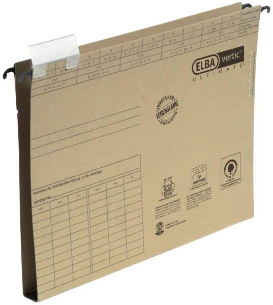 ELBA Hängesammler vertic ULTIMATE braun 100570015 85482 2cm Hartpapp.bod.