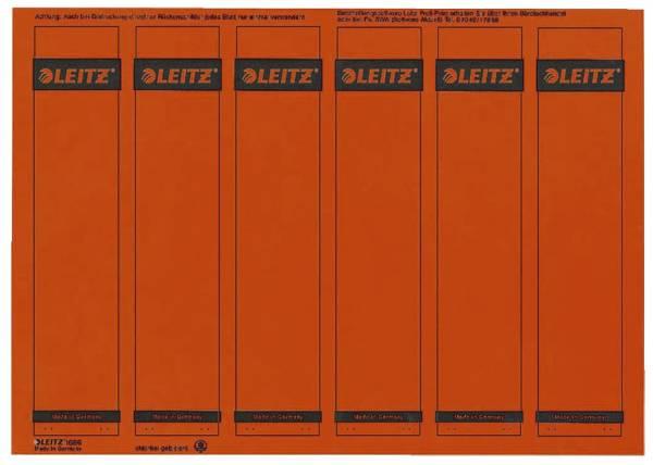 1686 PC beschriftbare Rückenschilder Papier, kurz schmal, 150 Stück, rot