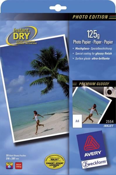 AVERY ZWECKFORM Inkjet Fotopapier A4 20BL glos 2554