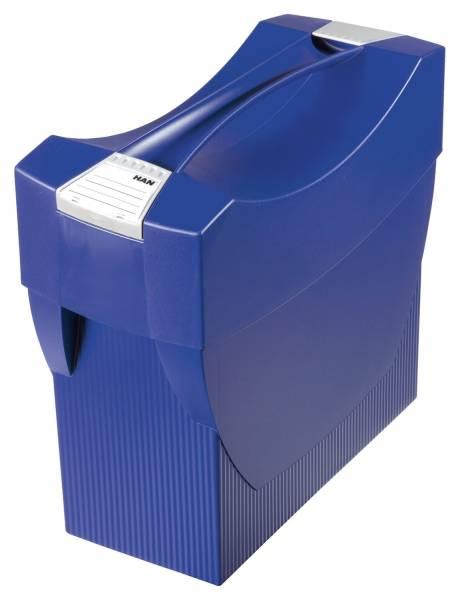 HAN Hängemappenbox Swing blau 1901-14 m.Deck.397x347x154