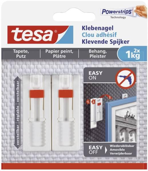 TESA Powerstrips 2ST 1kg weiß 77774-00000-00 verstellbar