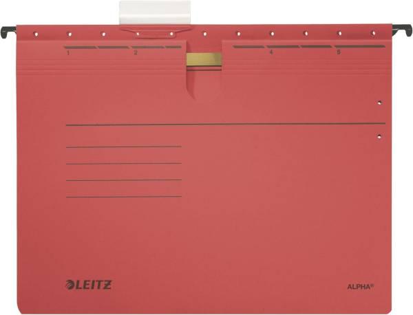1984 Hängehefter ALPHA kfm Heftung, Colorspankarton, 5 Stück, rot®