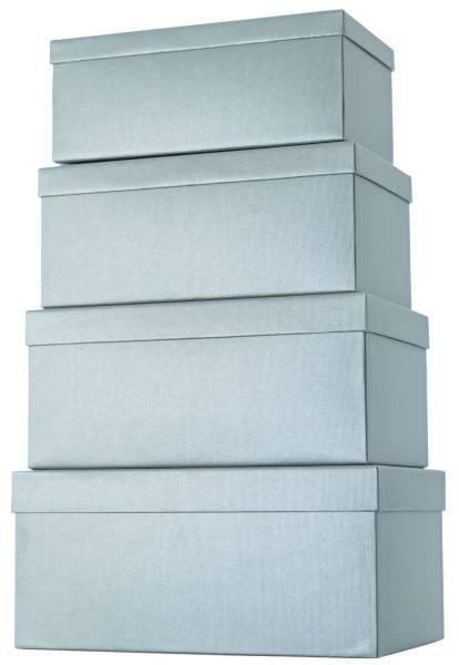 Geschenkkarton 4 tlg , hoch, silber