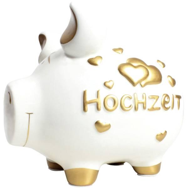 KCG Spardose Schwein mittel weiß 100900 Hochzeit