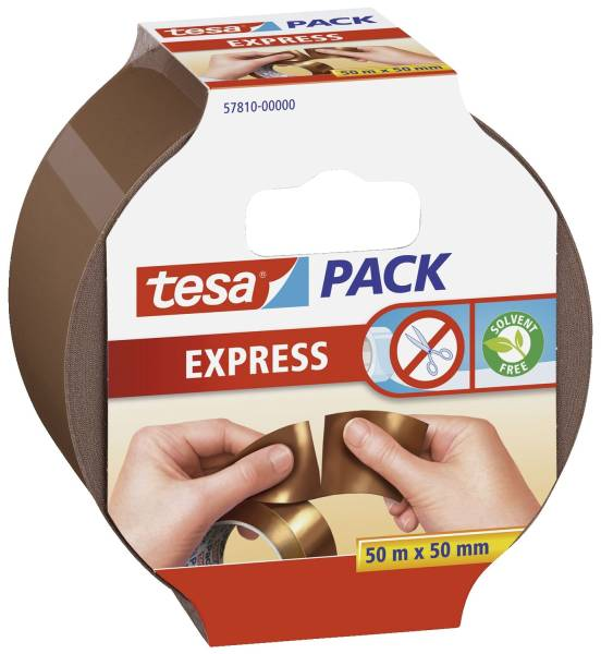 Verpackungsklebeband tesapack Express, PP, 50 m x 50 mm,braun®
