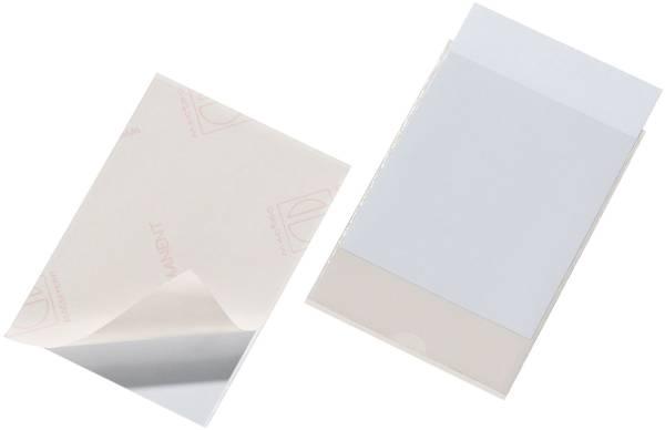 Selbstklebetasche POCKETFIX 148x105 mm, seitlich offen, transparent, 10 Stück®