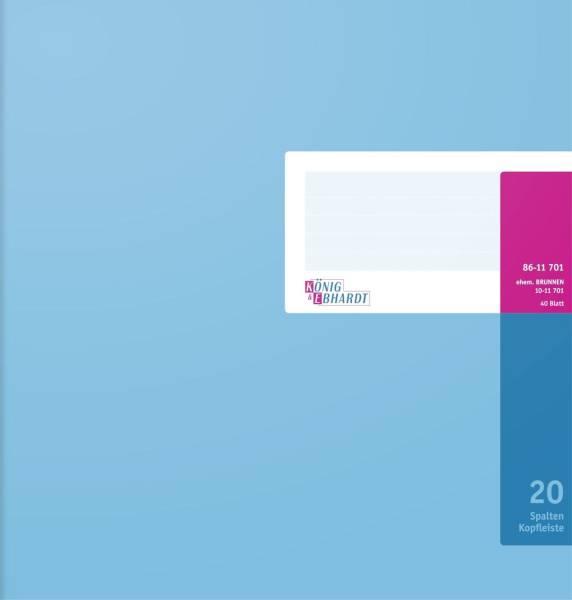 KÖNIG & EBHARDT Spaltenbuch A4 40Bl 20Spalten 86-11701