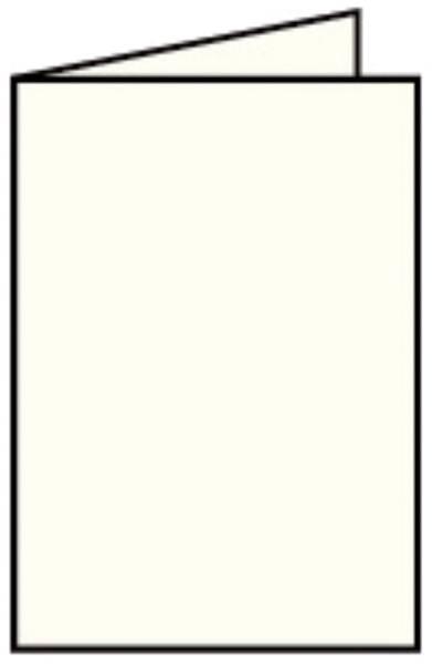 Coloretti Doppelkarte A6 hoch, 5 Stück, creme