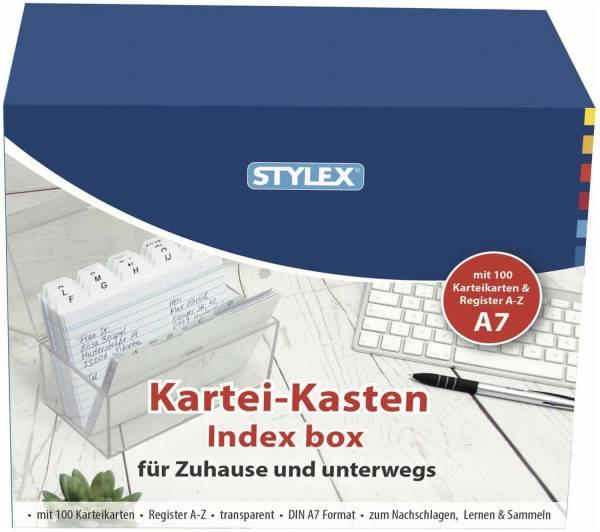 STYLEX Karteikasten Plastik transp.A7 49971