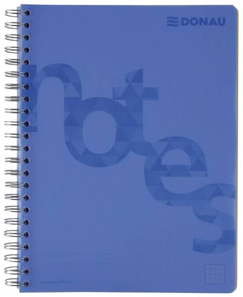 DONAU Collegeblock PP Cover A4 kariert blau 7525201-10 140BL 80g
