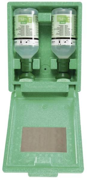 LEINA-WERKE Augenspülstation Plum 2x500ml grün 44023 in Wandbox