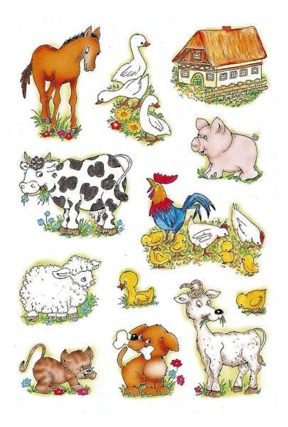 5419 Sticker DECOR Bauernhoftiere