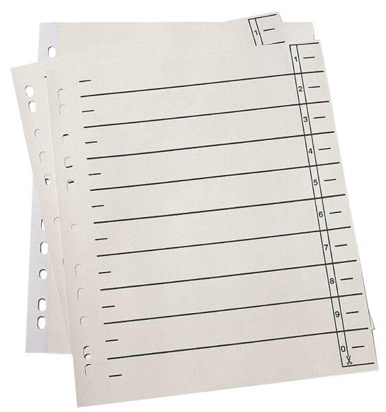 Trennblätter A4 Überbreite, 190 g qm Karton, Lochrand verstärkt, chamois, 100 Stück