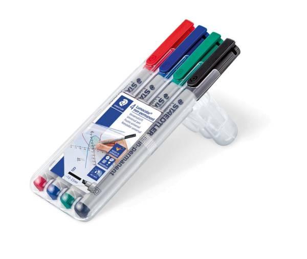 Feinschreiber Universalstift Lumocolor non permanent, B, Box mit 4 Farben®