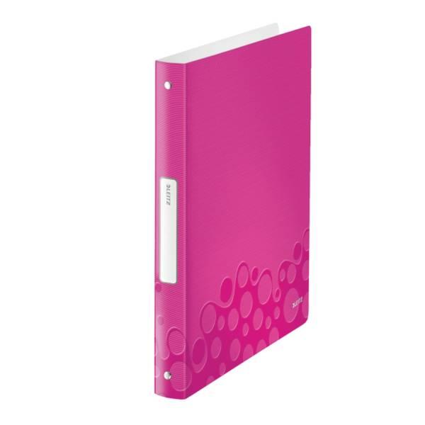 LEITZ Ringbuch A4 Wow pink metallic 4258-00-23 4Ringe