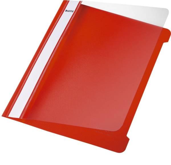 4197 Hefter Standard, A5, langes Beschriftungsfeld, PVC, rot