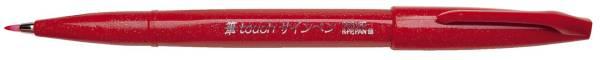 PENTEL Faserschreiber SignPen Brush rot SES15C-B Pinselspitze 0,2-2mm