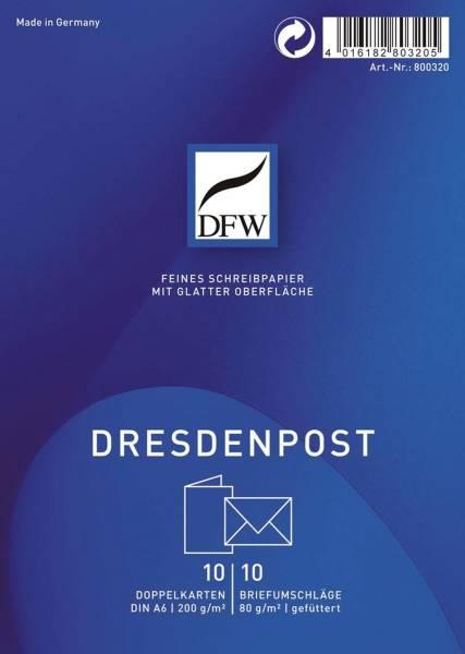 Doppelkarte DresdenPost A6 hoch, 10 Karten 10 Umschläge