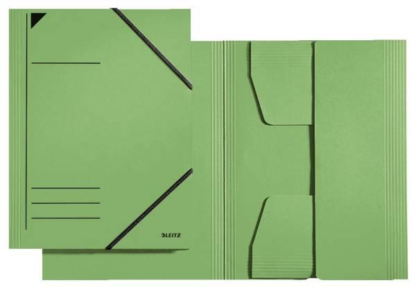 3981 Eckspannermappe A4, 250 Blatt, Pendarec Karton (RC), grün